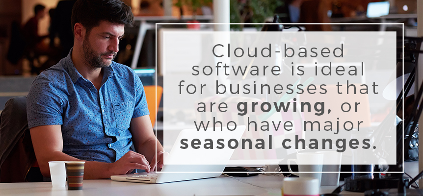 cloud based software is ideal for businesses that are growing