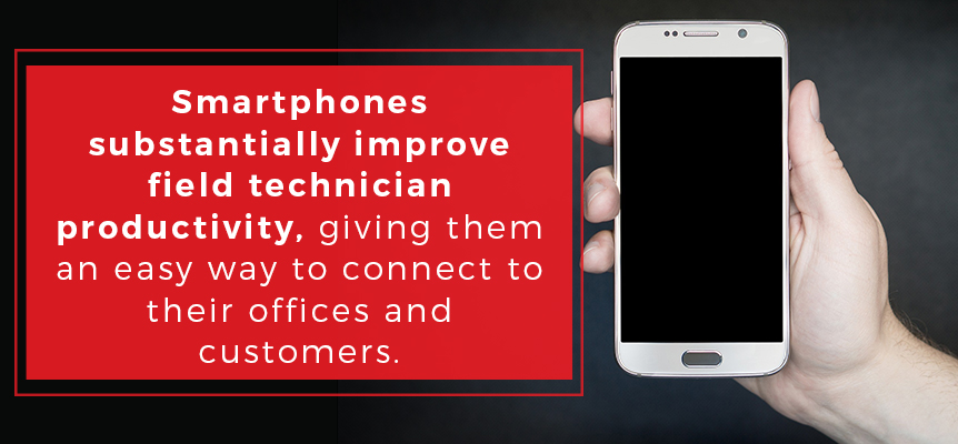 Improve your field service technician productivity with smartphones and allow them to connect more easily with offices and customers.
