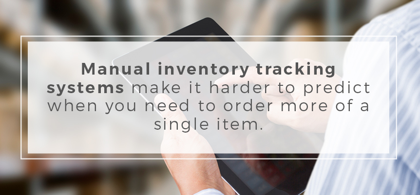 Modernize your inventory tracking system to predict item ordering more easily.