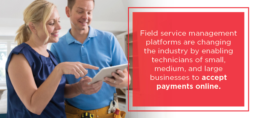 field service management and mobile payment processing