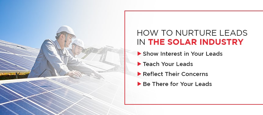 nurture leads in solar industry